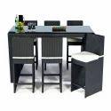 Wicker Bar Chair Table