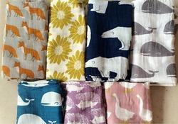 Double Cloth Swaddles Printed Design