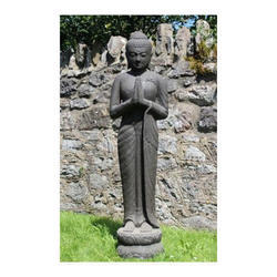 Glorified Stone Buddha Statue
