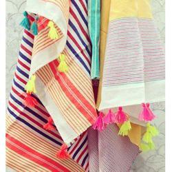 Multicolor Colorful Beach Blanket Tassel Hammam Cotton Fouta Turkish Towels