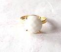 Semi Precious Stone Pearl Ring