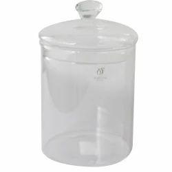 Crystal Knob Glass Jar