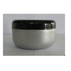 RE 125 ml Pearl Silver Jar with Black Cap