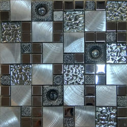 Resine Greyna Crystal Glass Mosaic Tiles