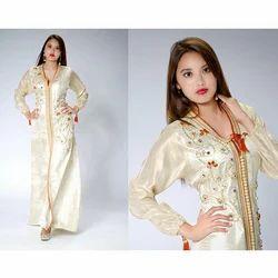 Ladies Gold Work Kaftan