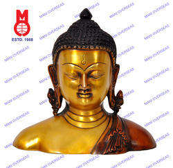 Lord Buddha Bust W/Kundals Statue