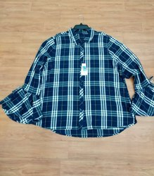Flannel Woven Ladies Top