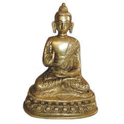 Brass Buddha Sitting Gold Finish