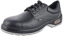 Black Burn Double Sole Safety Shoes