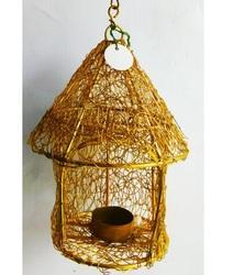 Brass Hut Candle Hanging