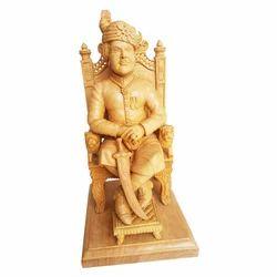 Wooden Sitting Maharaja