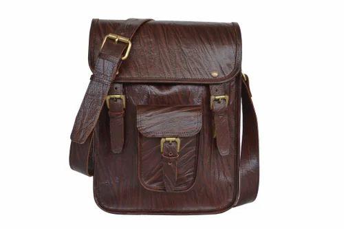 77a311c135 Leather Shoulder Bag - Vintage Men s Crazy Horse Leather Shoulder ...