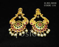 Traditional Temple Hanging Earrings