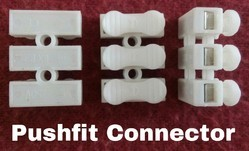 Spring Wire Connector, Push Fit 3 Way