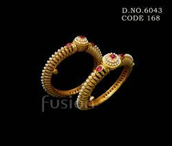 Traditional Ruby Pearl Bangles