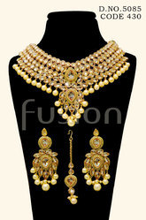 Pearl Reverse AD Necklace Set
