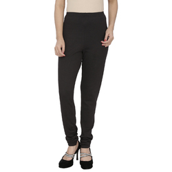 Ribbed Cotton Lycra Solid Legging