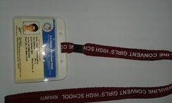dom card holder with lanyard