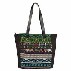 Nava Black Acrylic Tote Bag