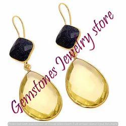 Lemon Topaz Earring