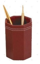 Pen Stand Leather Hex