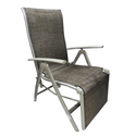 Kawachi Delux Relax Deck Chair in Aluminum with Armrest