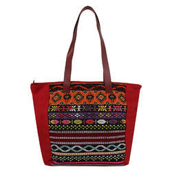 Nava Maroon Acrylic Tote Bag