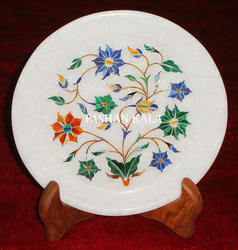 Stone Inlay Decorative Plate