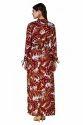 Designer Floral Print Maxi Dress
