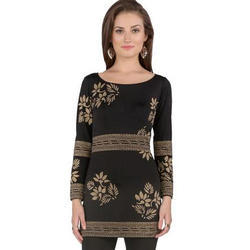Ira-Soleil-Black-Polyester-Knitted-Strechable-Block-Printed