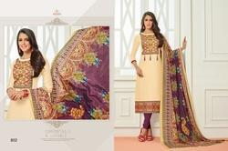 Round Neck Sararara Salwar Suit Fabric