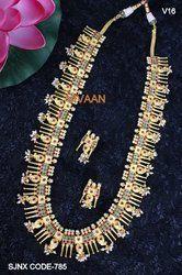 Traditional Matte Polish Multi-Color Long Necklace Set