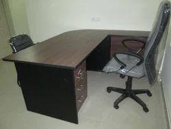 L Shape Wooden Table