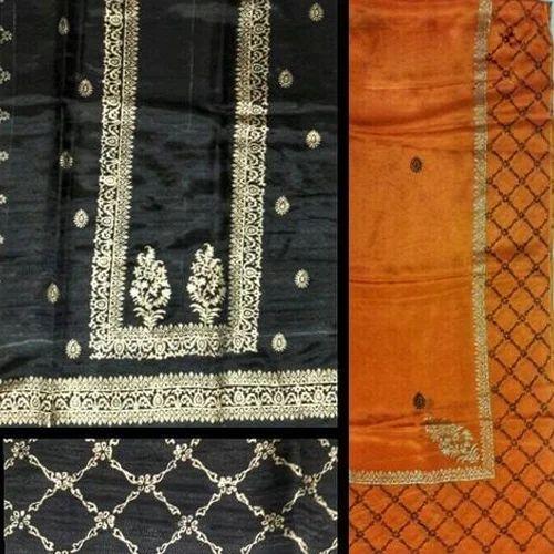 633bd8af2c Ladies Block Unstitched Suit - Ladies Block Print Silk Unstitched ...