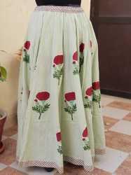 Indian block print long skirt