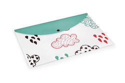 Offset Cloud Patterns Clear Bags