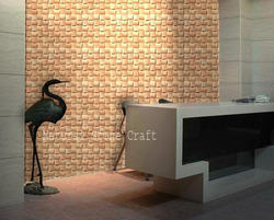 3D Teakwood Stone Tiles