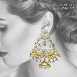 Designer Indian Peacock Earrings