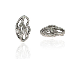 Diamond Uneven Shaped Filigree Bead