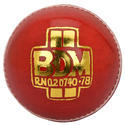 BDM Agni Red Cricket Leather Ball