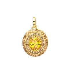 Golden Polished Stone Pendant