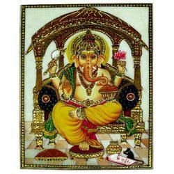 Ganesh Marble Painting