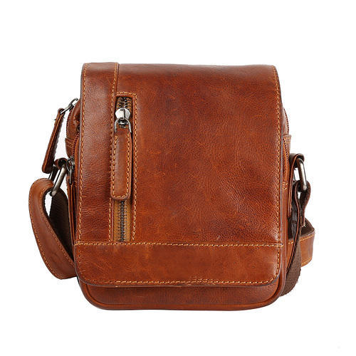63e6e5034a Leather Sling Bag - Small Brown Leather Sling Bag For Unisex ...
