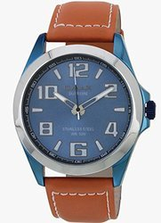 Omax Analog Blue Dial Men's Watch - Ss141