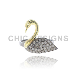 Diamond Swan Mid Ring