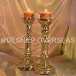 Antique Slr Pillar Candle Holder