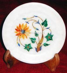 Marble Flower Inlay Plate