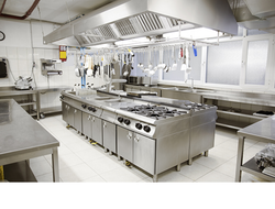 Continental Gas Range with Work Top Refrigerator
