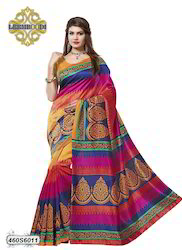 Bhagalpuri Silk Printed Saree