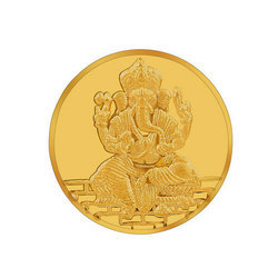 Ganesh Gold Coin 1gms 995